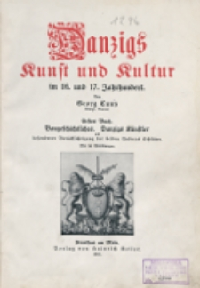 Danzigs Kunst und Kultur im 16. und 17. Jahrhundert