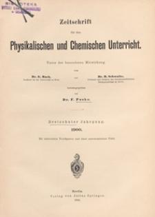 Zeitschrift für den Physikalischen und Chemischen Unterricht, 1900 H 3