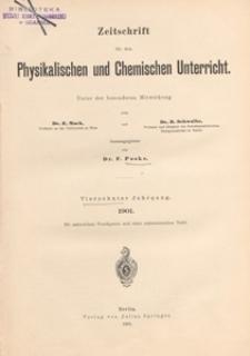 Zeitschrift für den Physikalischen und Chemischen Unterricht, 1901 H 2