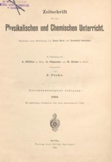 Zeitschrift für den Physikalischen und Chemischen Unterricht, 1910 H 3
