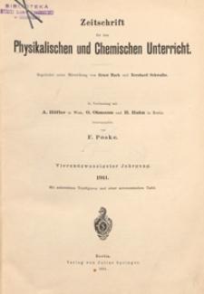 Zeitschrift für den Physikalischen und Chemischen Unterricht, 1911 H 3