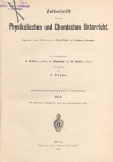 Zeitschrift für den Physikalischen und Chemischen Unterricht, 1913 H 6