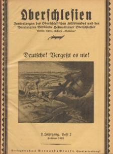 Oberschlesien : Zentralorgan des Oberschlesischen Hilfsbundes und der Vereinigten Verbände Heimattreuer Oberschlesier, 1925 H 2