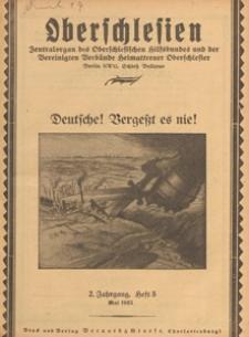 Oberschlesien : Zentralorgan des Oberschlesischen Hilfsbundes und der Vereinigten Verbände Heimattreuer Oberschlesier, 1925 H 5
