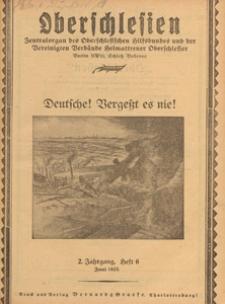 Oberschlesien : Zentralorgan des Oberschlesischen Hilfsbundes und der Vereinigten Verbände Heimattreuer Oberschlesier, 1925