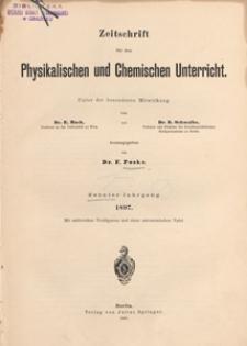 Zeitschrift für den Physikalischen und Chemischen Unterricht, 1897 H 5