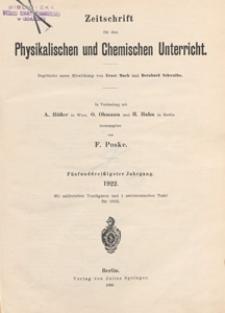 Zeitschrift für den Physikalischen und Chemischen Unterricht, 1922 H 2