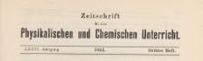 Zeitschrift für den Physikalischen und Chemischen Unterricht, 1923 H 3