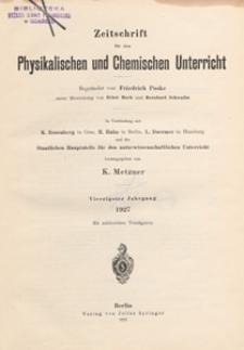 Zeitschrift für den Physikalischen und Chemischen Unterricht, 1927 H 5