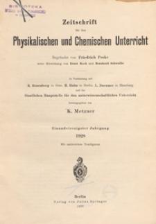 Zeitschrift für den Physikalischen und Chemischen Unterricht, 1928 H 3