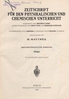 Zeitschrift für den Physikalischen und Chemischen Unterricht, 1940 H 6