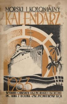 Kalendarz Morski i Kolonialny na rok 1933