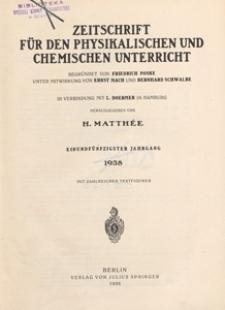 Zeitschrift für den Physikalischen und Chemischen Unterricht, 1938 H 4