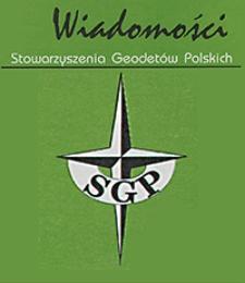 Wiadomości Stowarzyszenia Geodetów Polskich. Rok 14, Nr 61, lipiec 2009