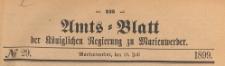 Amts-Blatt der Königlich Preussischen Regierung zu Marienwerder für das Jahr, 1899.07.19 nr 29