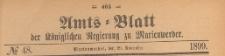 Amts-Blatt der Königlich Preussischen Regierung zu Marienwerder für das Jahr, 1899.11.29 nr 48