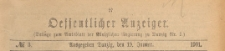 Oeffentlicher Anzeiger : Beilage zum Amts-blatt der Königlichen Regierung zu Danzig, 1901.01.19 nr 3