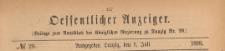 Oeffentlicher Anzeiger : Beilage zum Amts-blatt der Königlichen Regierung zu Danzig, 1898.07.09 nr 28