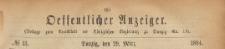 Oeffentlicher Anzeiger : Beilage zum Amts-blatt der Königlichen Regierung zu Danzig, 1884.03.29 nr 13