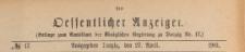 Oeffentlicher Anzeiger : Beilage zum Amts-blatt der Königlichen Regierung zu Danzig, 1901.04.27 nr 17