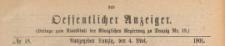 Oeffentlicher Anzeiger : Beilage zum Amts-blatt der Königlichen Regierung zu Danzig, 1901.05.04 nr 18