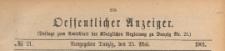 Oeffentlicher Anzeiger : Beilage zum Amts-blatt der Königlichen Regierung zu Danzig, 1901.05.25 nr 21