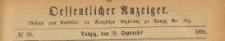 Oeffentlicher Anzeiger : Beilage zum Amts-blatt der Königlichen Regierung zu Danzig, 1891.09.19 nr 38