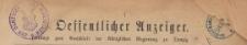 Oeffentlicher Anzeiger : Beilage zum Amts-blatt der Königlichen Regierung zu Danzig, 1886.10.02 nr 40