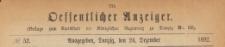 Oeffentlicher Anzeiger : Beilage zum Amts-blatt der Königlichen Regierung zu Danzig, 1892.12.24 nr 52