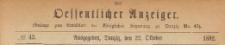 Oeffentlicher Anzeiger : Beilage zum Amts-blatt der Königlichen Regierung zu Danzig, 1892.10.22 nr 43
