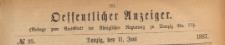 Oeffentlicher Anzeiger : Beilage zum Amts-blatt der Königlichen Regierung zu Danzig, 1887.06.11 nr 23