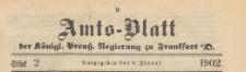 Amts-Blatt der Königlichen Preussischen Regierung zu Frankfurth an der Oder, 1902.01.08 nr 2