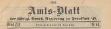 Amts-Blatt der Königlichen Preussischen Regierung zu Frankfurth an der Oder, 1904.12.29 nr 52