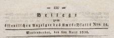 Beilage zum öffentlichen Anzeiger des Amts=Blatts, 1838.04.06 nr 14