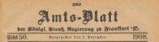 Amts-Blatt der Königlichen Preussischen Regierung zu Frankfurth an der Oder, 1908.12.09 nr 50