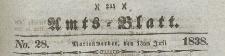Amts-Blatt der Königlich Preussischen Regierung zu Marienwerder für das Jahr, 1838.07.13 nr 28