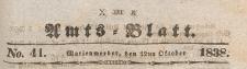 Amts-Blatt der Königlich Preussischen Regierung zu Marienwerder für das Jahr, 1838.10.12 nr 41
