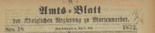 Amts-Blatt der Königlichen Regierung zu Marienwerder für das Jahr, 1872.05.01 nr 18