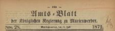 Amts-Blatt der Königlichen Regierung zu Marienwerder für das Jahr, 1872.07.10 nr 28