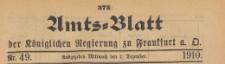 Amts-Blatt der Königlichen Regierung zu Frankfurth an der Oder, 1910.12.07 nr 49