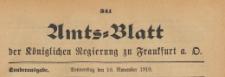 Amts-Blatt der Königlichen Regierung zu Frankfurth an der Oder, 1910.11.10