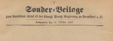Sonder=Beilage zum Amtsblatt Stüd 42 der Königlichen Preussischen Regierung zu Frankfurth an der Oder, 1904.10.16
