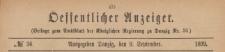 Oeffentlicher Anzeiger : Beilage zum Amts-blatt der Königlichen Regierung zu Danzig, 1899.09.09 nr 36