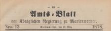 Amts-Blatt der Königlichen Regierung zu Marienwerder für das Jahr, 1878.03.27 nr 13
