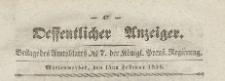 Oeffentlicher Anzeiger : Beilage des Amtsblatt der Königlichen Preussischen Regierung, 1839.02.15 nr 7
