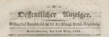 Oeffentlicher Anzeiger : Beilage des Amtsblatt der Königlichen Preussischen Regierung, 1839.03.15 nr 11