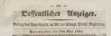 Oeffentlicher Anzeiger : Beilage des Amtsblatt der Königlichen Preussischen Regierung, 1839.05.17 nr 20