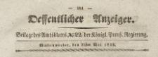 Oeffentlicher Anzeiger : Beilage des Amtsblatt der Königlichen Preussischen Regierung, 1839.05.31 nr 22