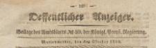 Oeffentlicher Anzeiger : Beilage des Amtsblatt der Königlichen Preussischen Regierung, 1839.10.04 nr 40
