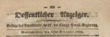 Oeffentlicher Anzeiger : Beilage des Amtsblatt der Königlichen Preussischen Regierung, 1839.11.22 nr 47